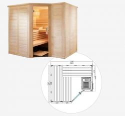 Sentiotec Saunakabine Polaris Large Massivsauna
